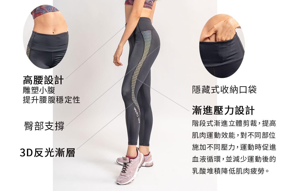 【Attis亞特司】3D編織反光壓力褲 1