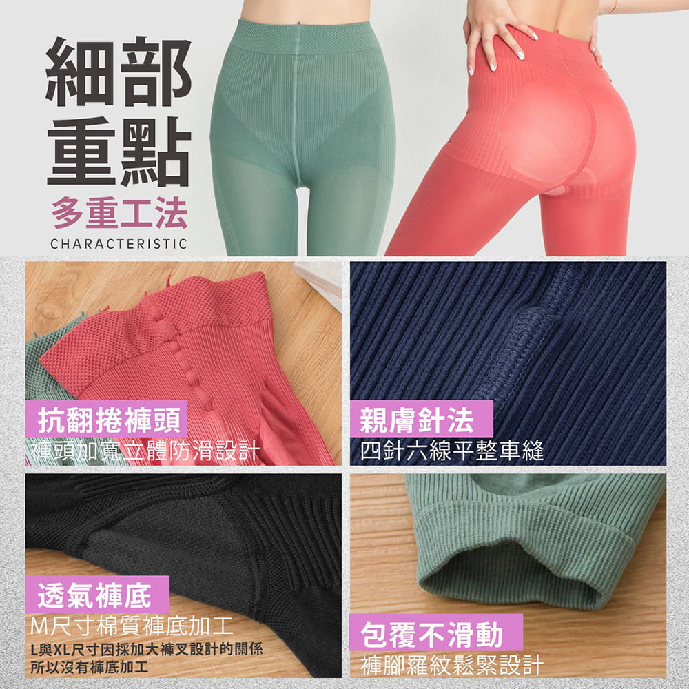 【GIAT】台灣製視覺-3KG微整機能塑型褲 7