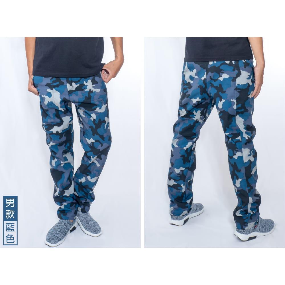 【NEW FORCE】迷彩戶外機能保暖衝鋒褲-男女款 7