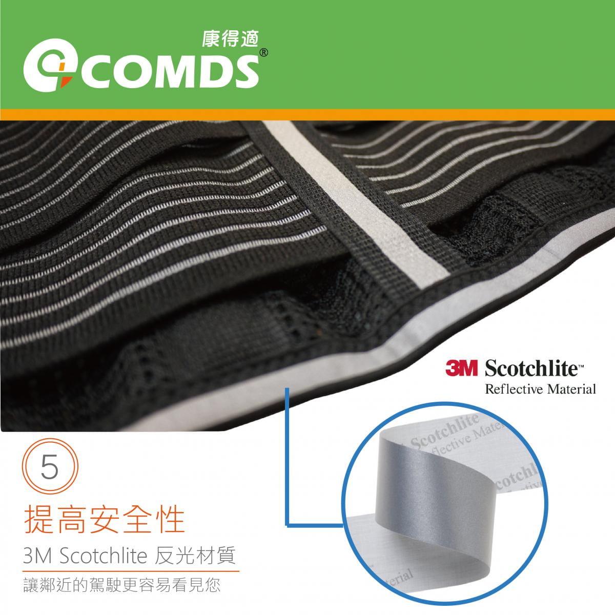 【康得適】UL-501反光纖薄護腰 微笑標章台灣製造 5