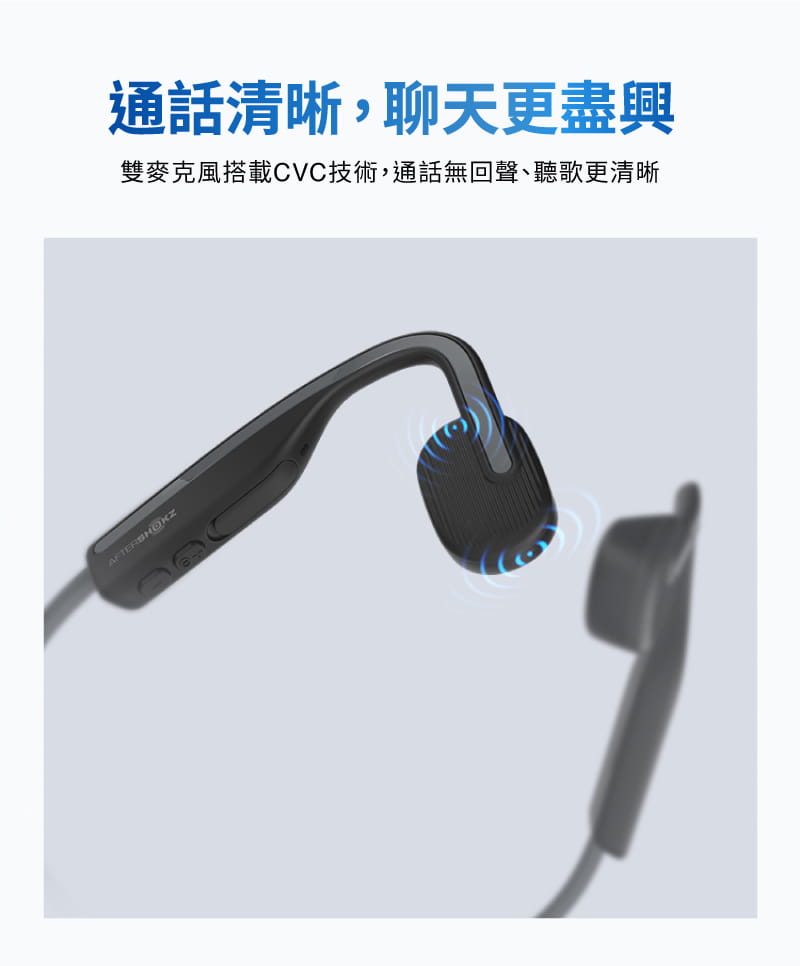 【AFTERSHOKZ】OPENMOVE AS660骨傳導藍牙運動耳機(純真白) 15