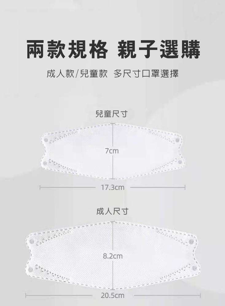 【英才星】KF94四層立體霓彩綜合款口罩(50片/組) 11