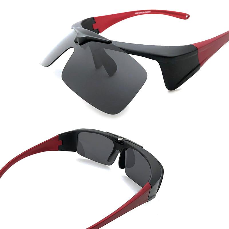 運動休閒上翻式偏光太陽眼鏡 (可套鏡) 5