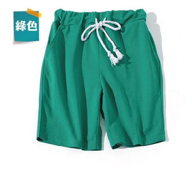 棉質休閒運動短褲 薄款透氣 抽繩男女款 舒適健身褲 13
