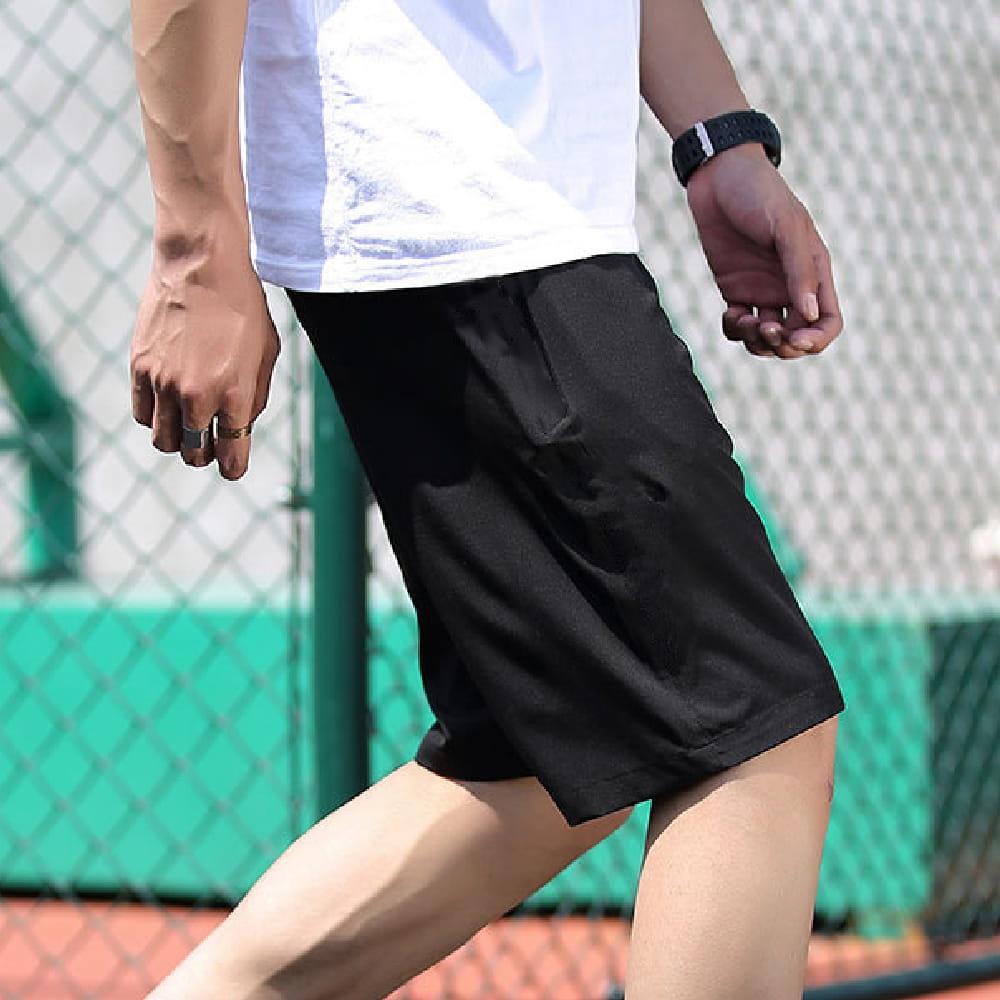 【NEW FORCE】高機能彈力抽繩運動男短褲-2色可選 9