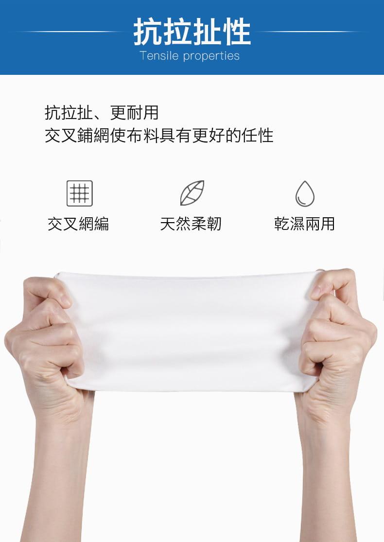 【防疫必備】SGS親膚純棉防疫口罩墊片棉柔巾 100片/包 10
