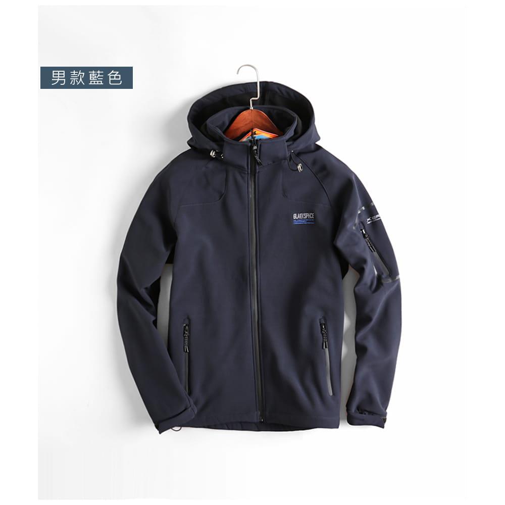 【NEW FORCE】男女款防風聚熱刷毛連帽外套-男女款 9