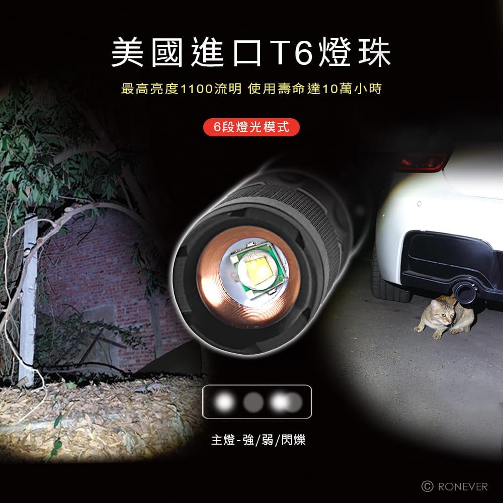 【RONEVER】PA-T6 COB工作燈手電筒 1