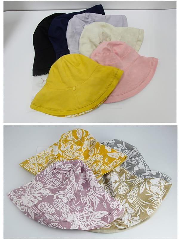 日系雙面拼色摺疊遮陽帽 12