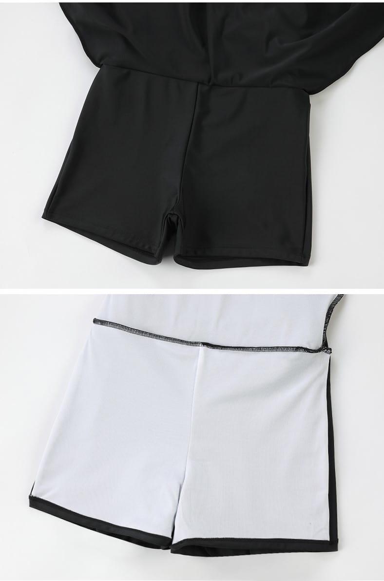 【微笑生活】超顯瘦連身泳裝 大尺碼泳裝 修飾款泳衣 黑色泳裝 2XL 3XL 90kg妞可穿 6