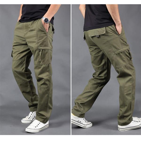 超彈力耐磨多口袋工作褲 10