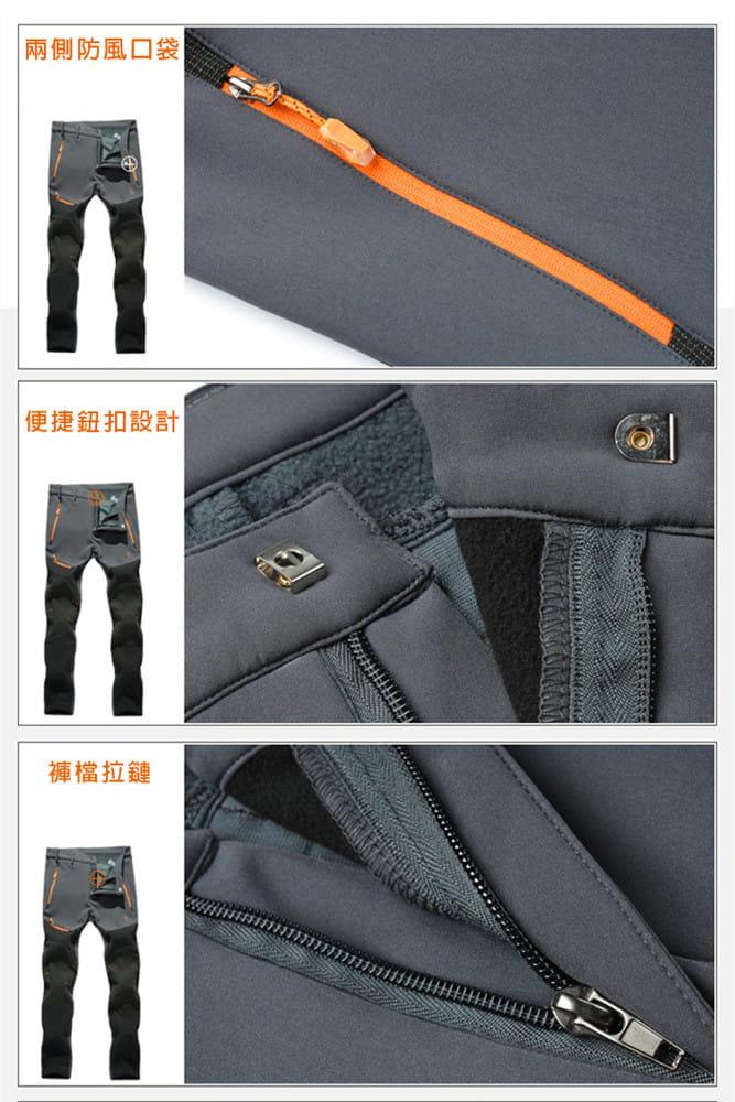 【加絨加厚】拼色防風防水衝鋒褲 戶外機能工作褲【CP16007】 17