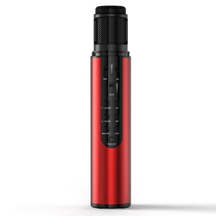 K1 二合一音效卡麥克風/ 直播麥克風 變聲藍牙K歌音響話筒一體成型 3