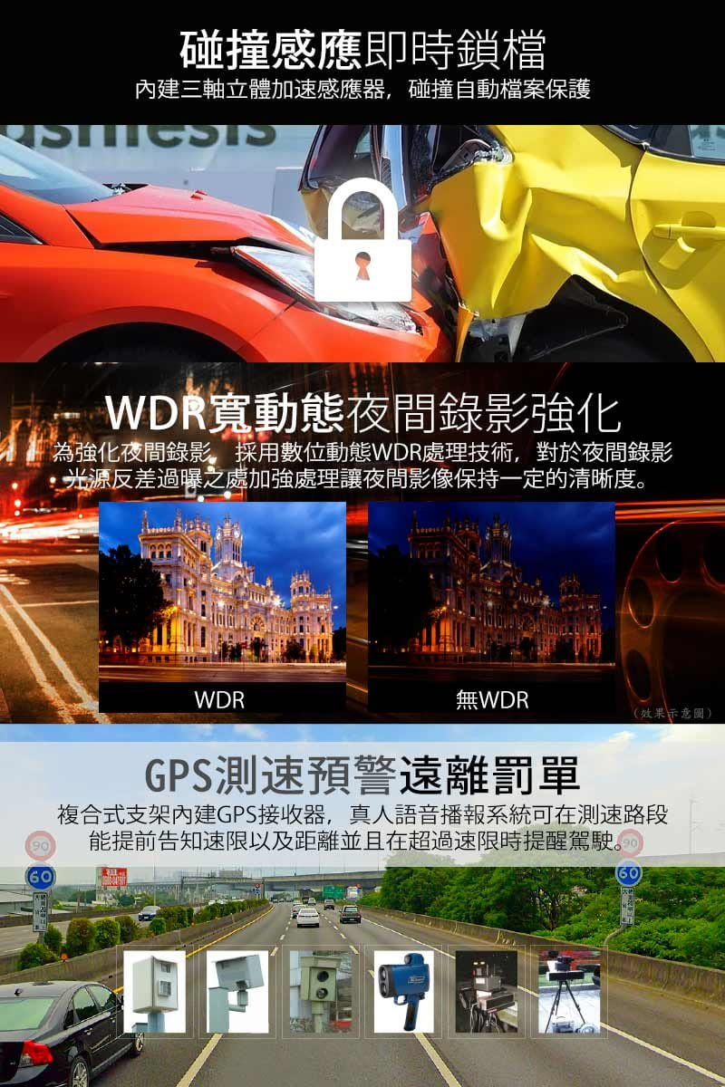 【愛國者】 UB9G 1080P夜視星光級GPS測速行車記錄器(送16G記憶卡) 4
