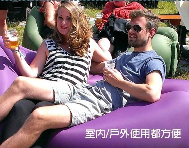 方便攜帶方頭款空氣懶人充氣沙發 3