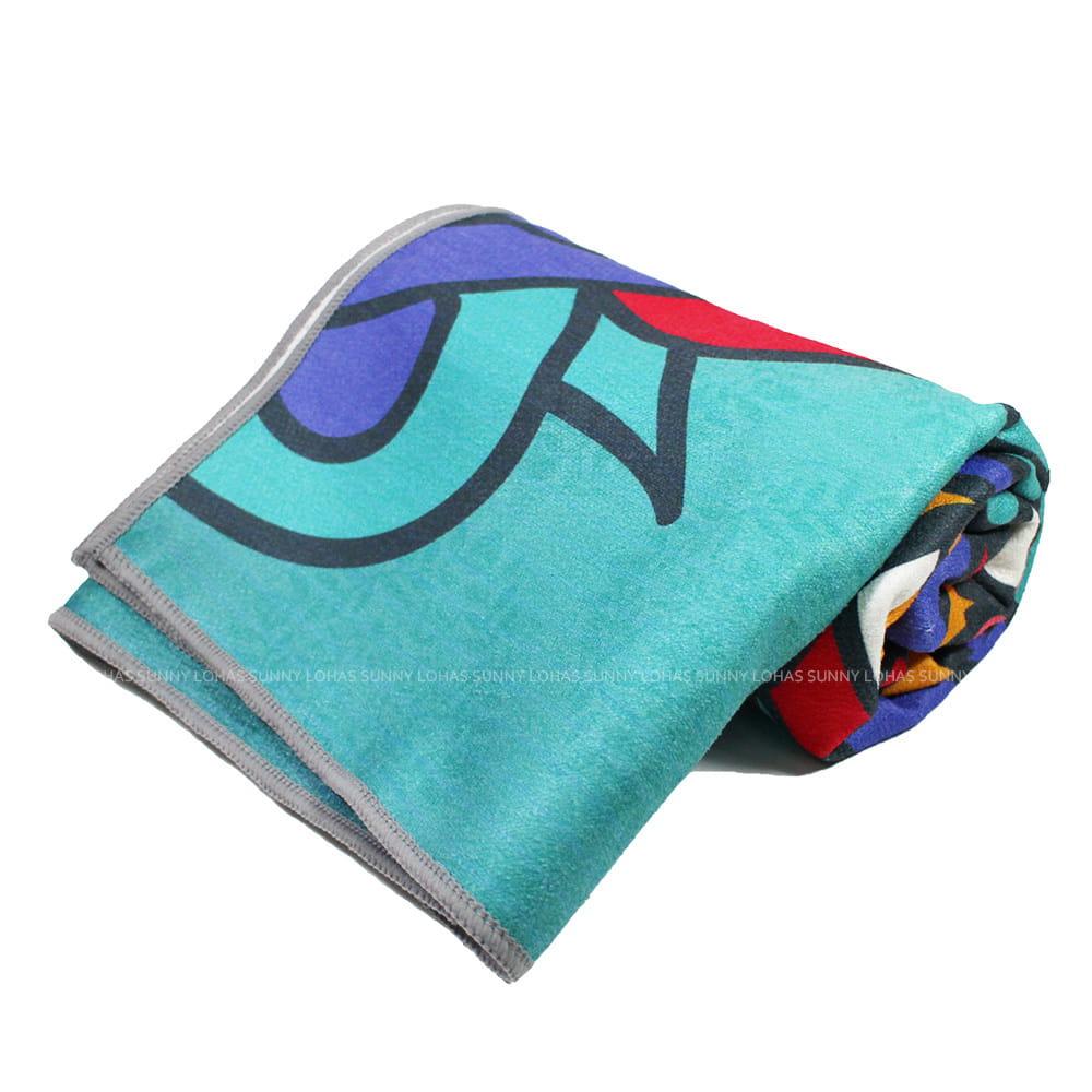 矽膠止滑瑜珈巾 瑜珈鋪巾 瑜珈墊 地墊 SNAY13藍綠
