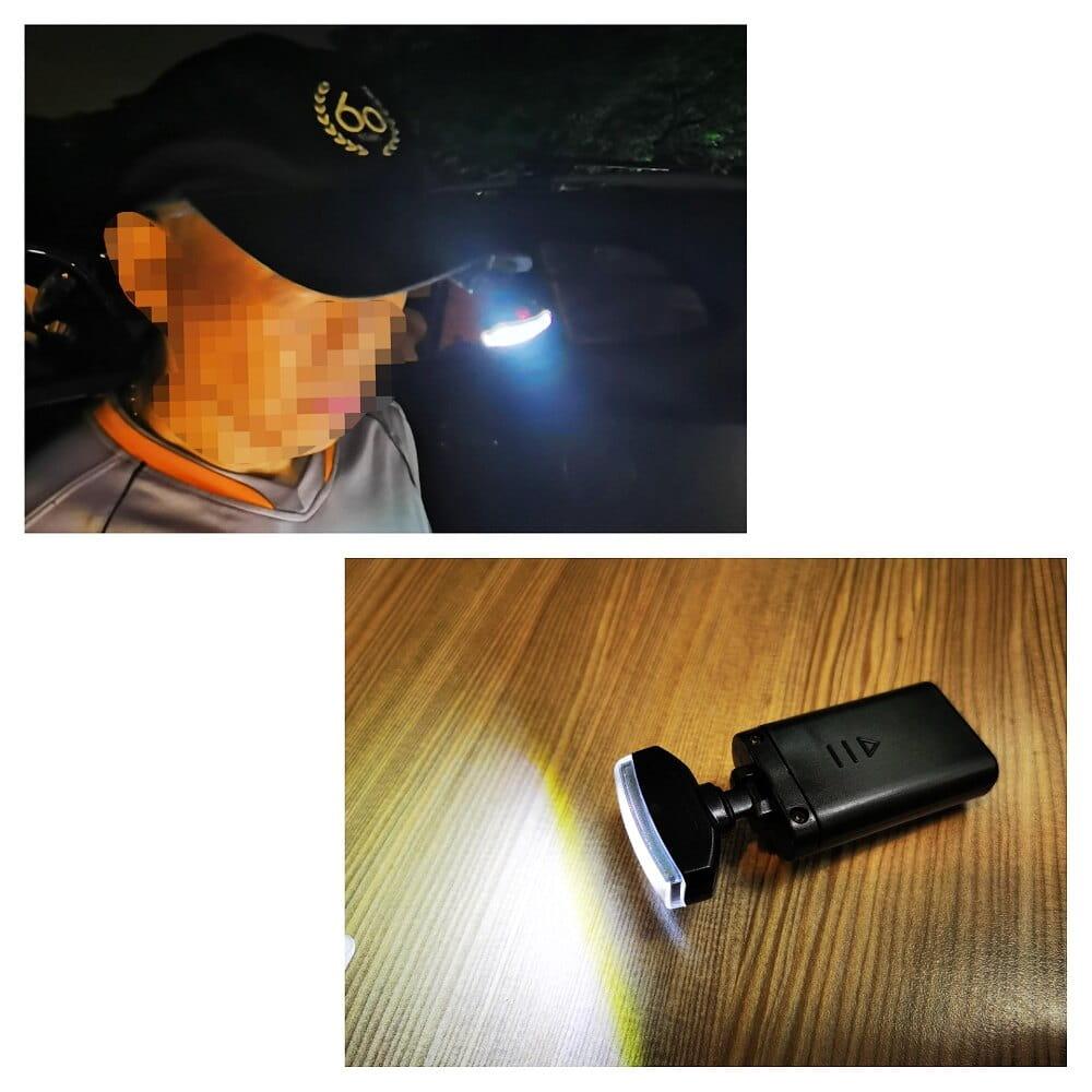 戶外登山野營照明燈便攜口袋夾扣燈夜釣騎行創意帽簷燈頭燈 3