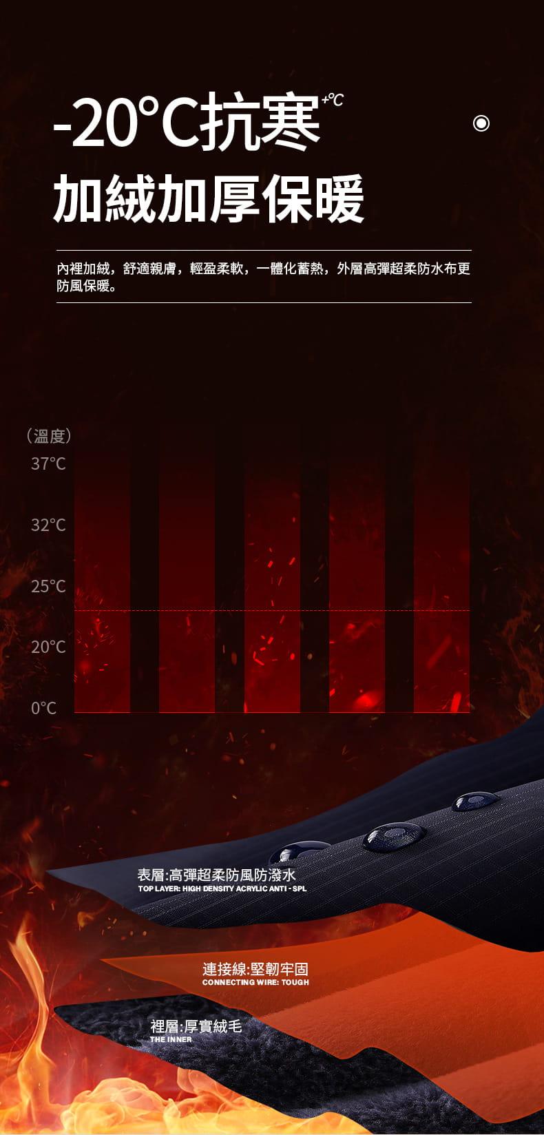 秋冬騎行防風防水加絨保暖手套 3