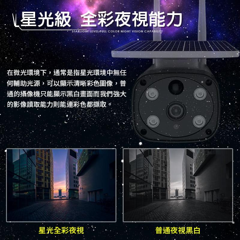【Leisure】星光級夜視 WIFI太陽能監視器 買就送4顆原廠電池 監視器 無線監視器 戶外監視器 12