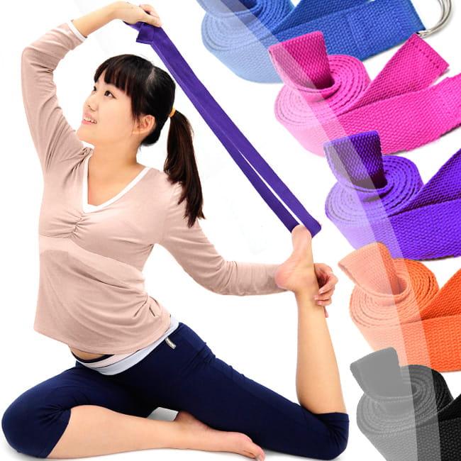 有氧瑜珈伸展帶   專業瑜珈帶韻律帶拉筋帶 0