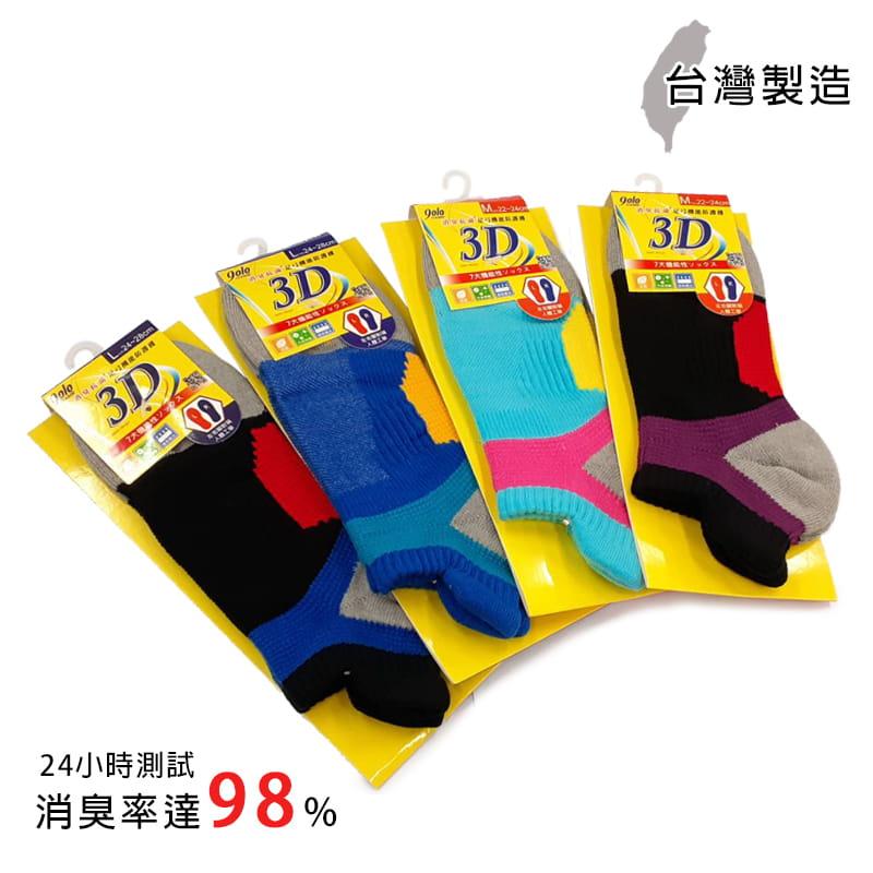 MIT除臭足弓防護機能健康襪 7