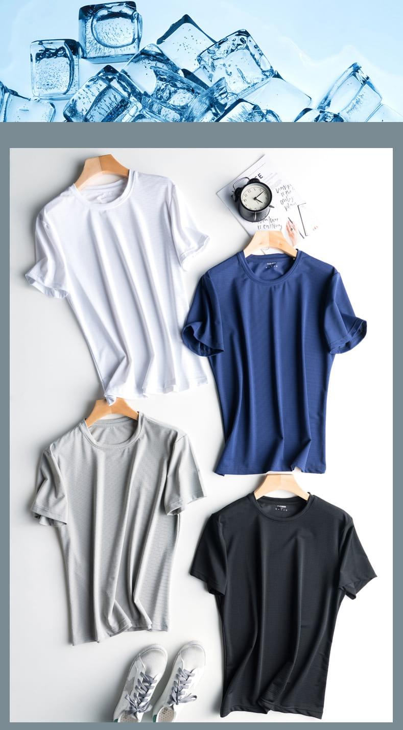 超薄涼透氣排汗速乾T恤 內搭外穿舒爽運動上衣 情侶款 網眼T恤 13