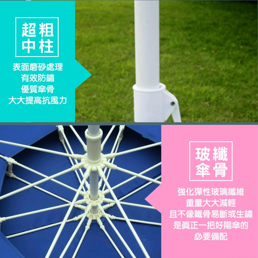 300cm超大雙層玻纖傘骨大陽傘+17kg傘座 送收納袋 6