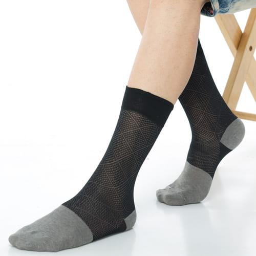 【KEROPPA可諾帕】奈米竹炭絲光棉紳士男襪x2雙C90006 3