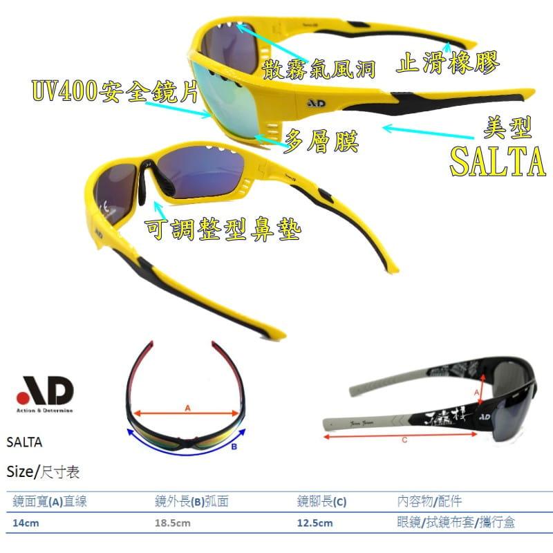 【AD運動眼鏡】AD全包覆運動護目太陽眼鏡/型號Salta/UV400安全鏡片 7