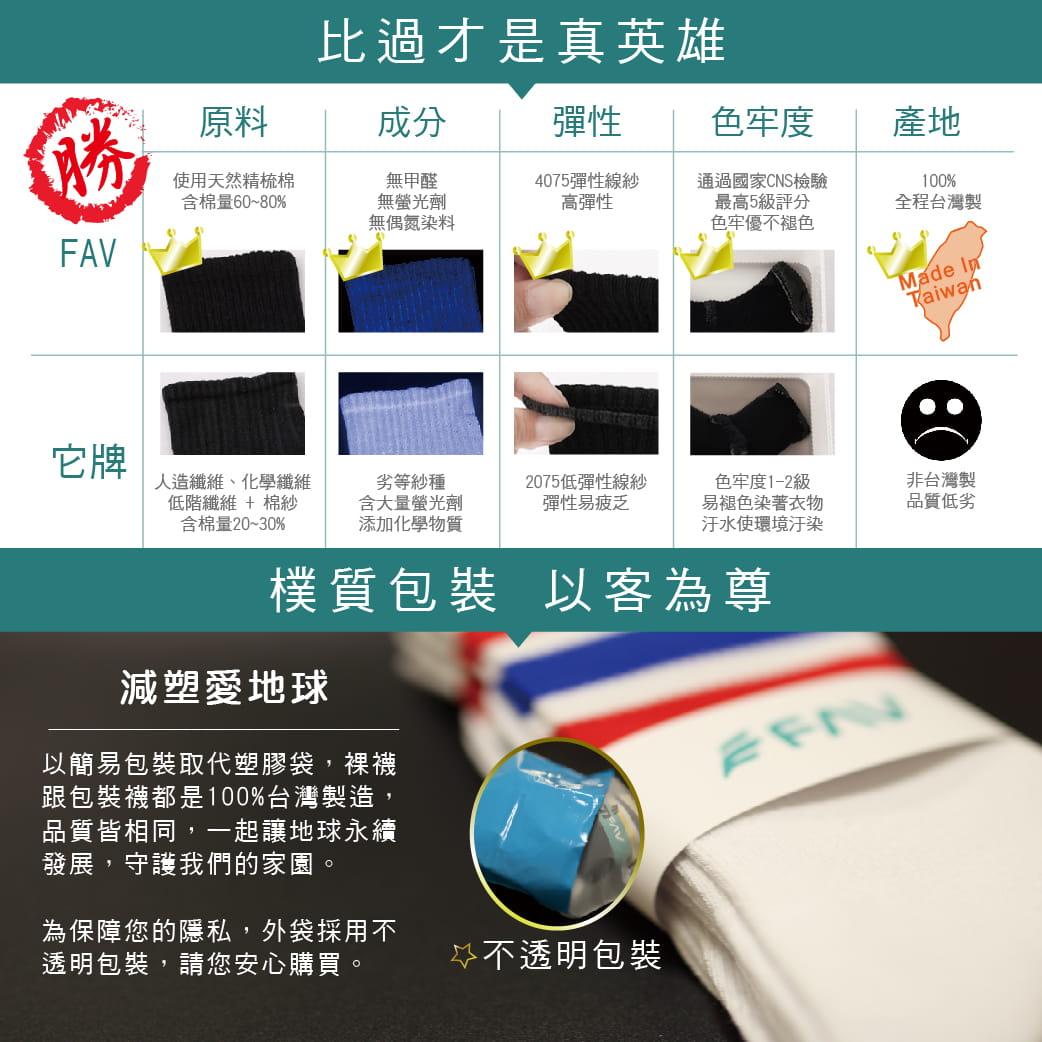 【FAV】純棉毛巾底足弓運動短襪 12