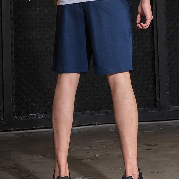 棉質休閒運動短褲 薄款透氣 抽繩男女款 舒適健身褲 1