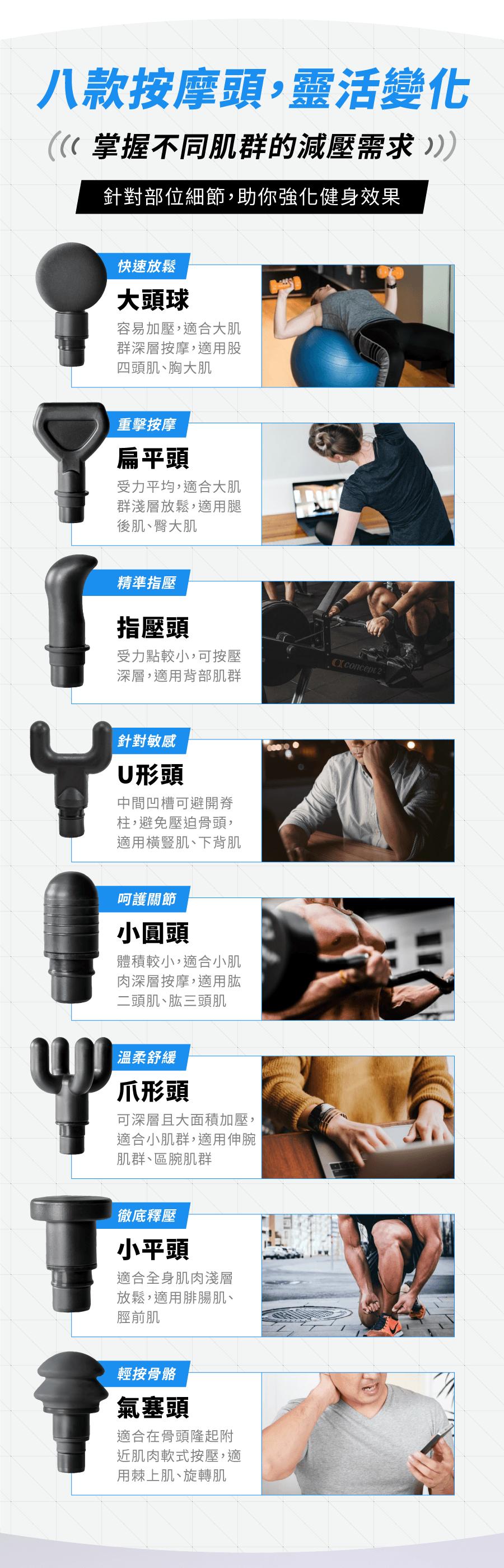 【SWG】筋膜按摩槍 (保固一年/BSMI認證/送八顆按摩頭/送收納盒) 7