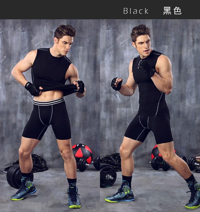 【Un-Sport高機能】專業吸排男用緊身五分褲-超值二入組(路跑/健身/籃球) 7