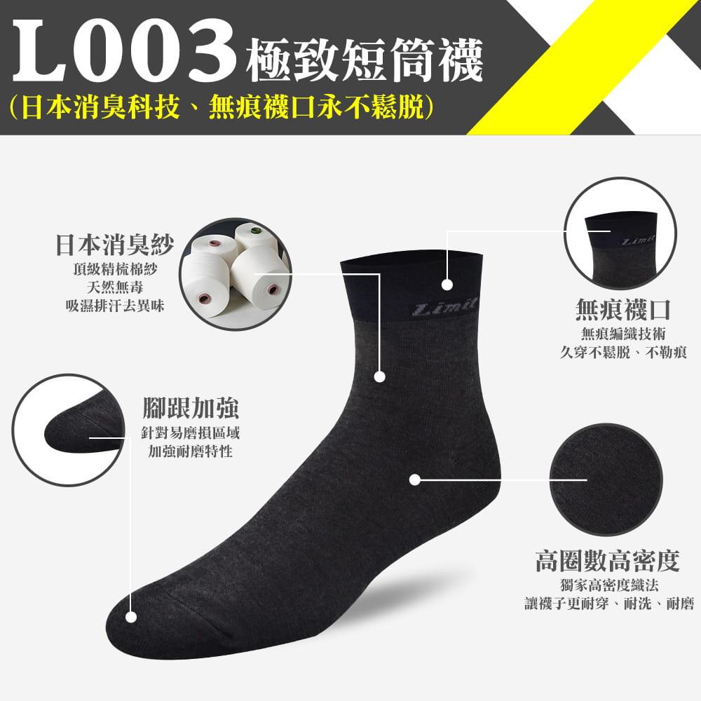 【力美特機能襪】極致短筒襪(黑) 0