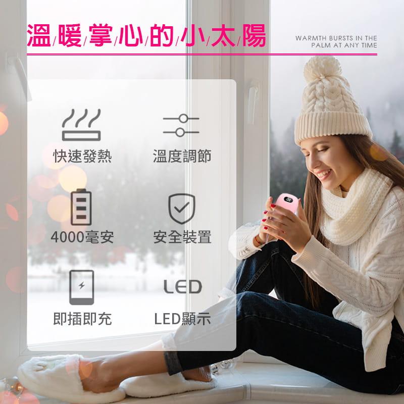 【Leisure】【磨砂款】USB充電暖手寶 迅速發熱 隨帶隨充 2段溫度 超大容量 1