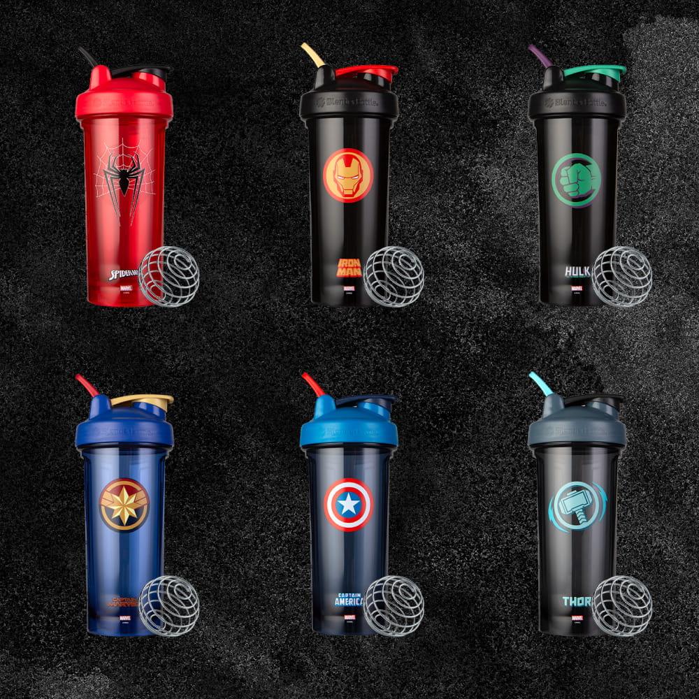 【Blender Bottle】Marvel超級英雄|6款任選|Pro28專業透亮搖搖杯 2