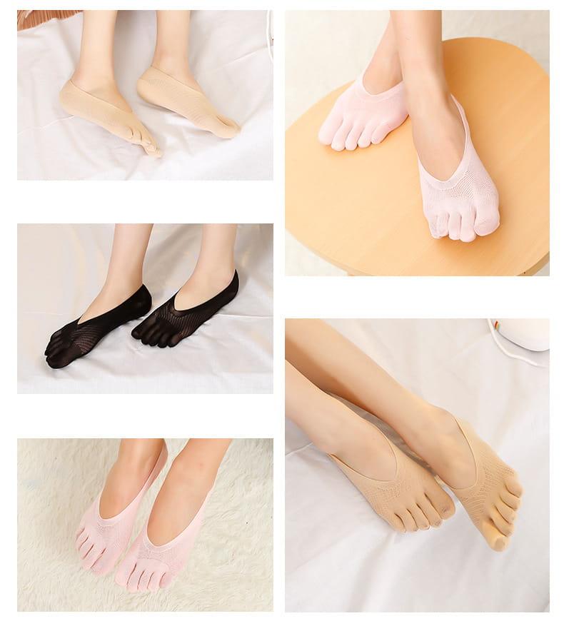 舒適透氣五指船襪 4