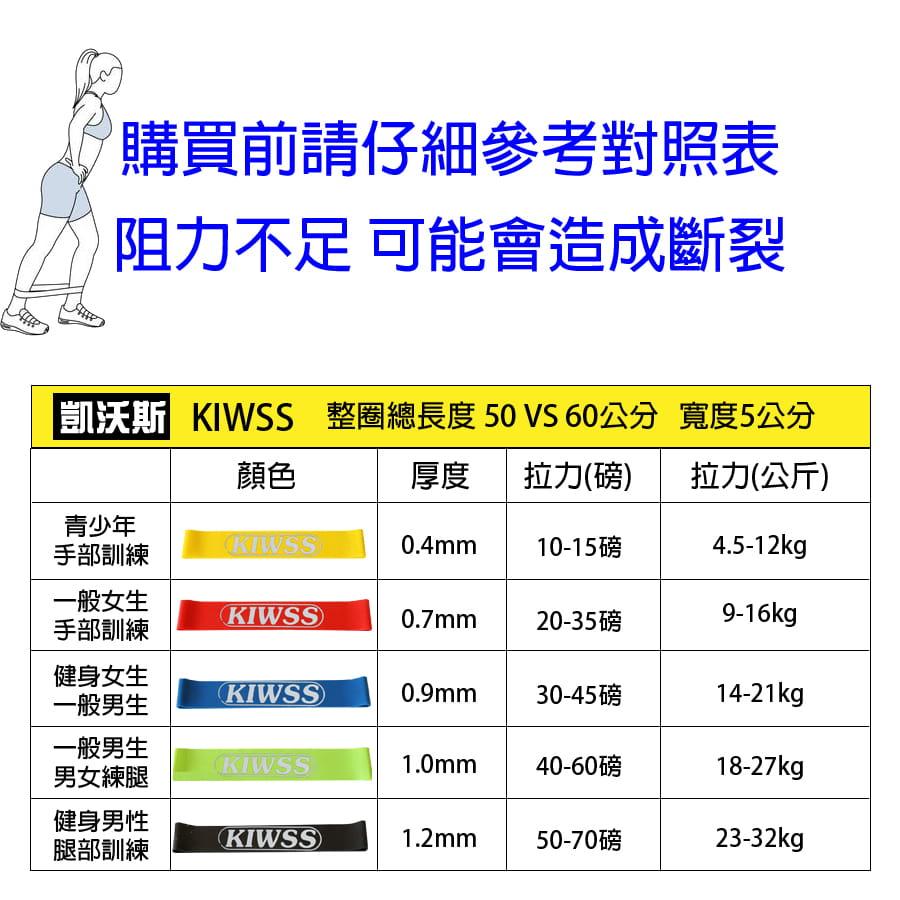 【50磅 黑色 50cm】KIWSS凱沃斯 天然乳膠阻力圈 9