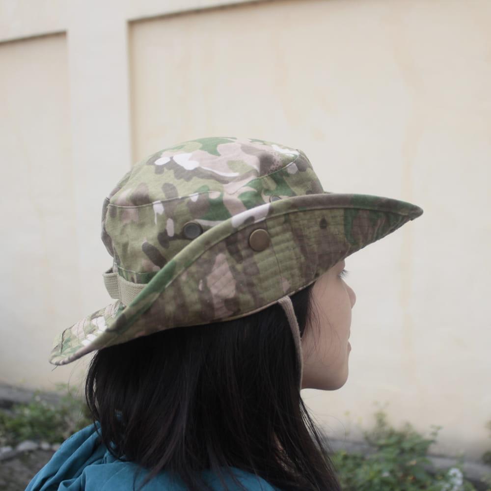 【E.City】可翻釦迷彩風戶外遮陽帽漁夫帽 3