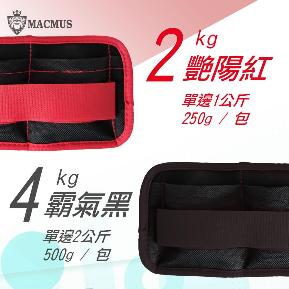 【MACMUS】2公斤重量可調整運動沙包 四格式重量可調負重沙袋 單邊1公斤復健沙包 3