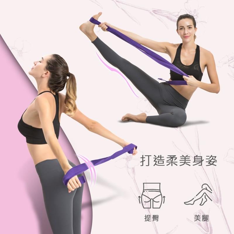 【MACMUS】瑜珈拉力帶|瑜伽輔助拉力繩|健身運動、深蹲、瑜珈|專注體式並伸展關節 6