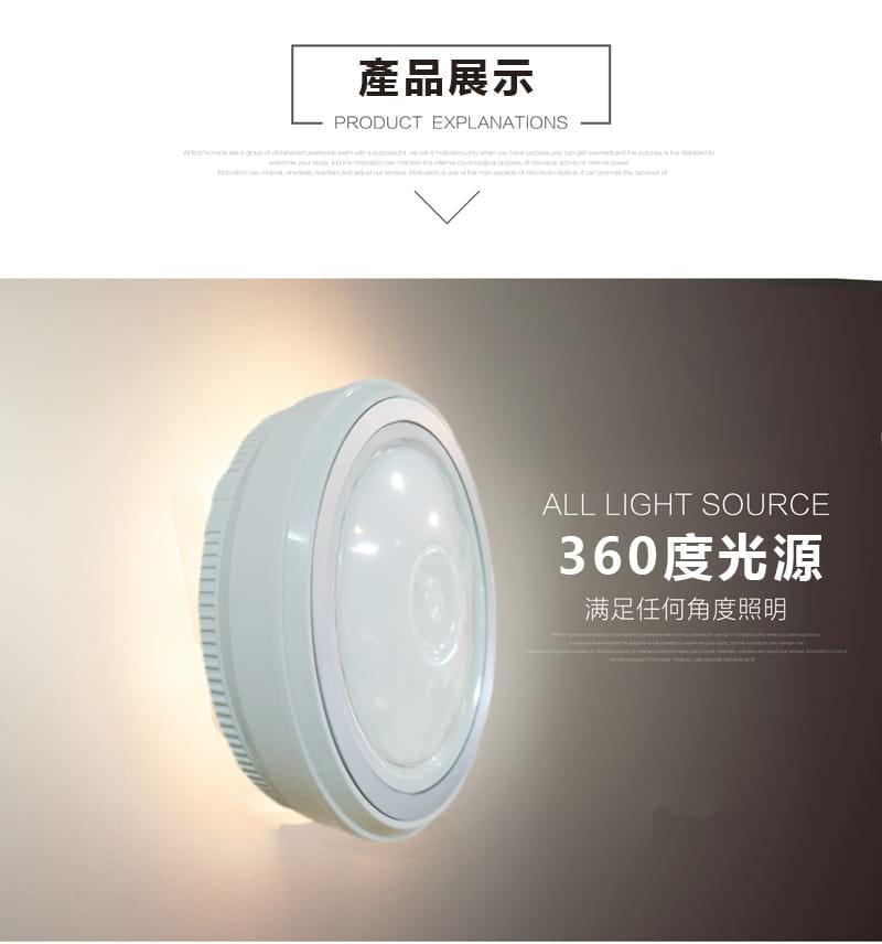 360度磁吸LED紅外線人體感應燈(暖白光) 2