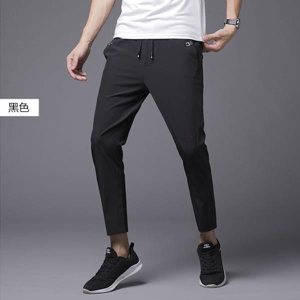 素面鬆緊腰彈力休閒褲/直筒褲/運動褲/加大碼 L-8XL碼【CP16036】 3