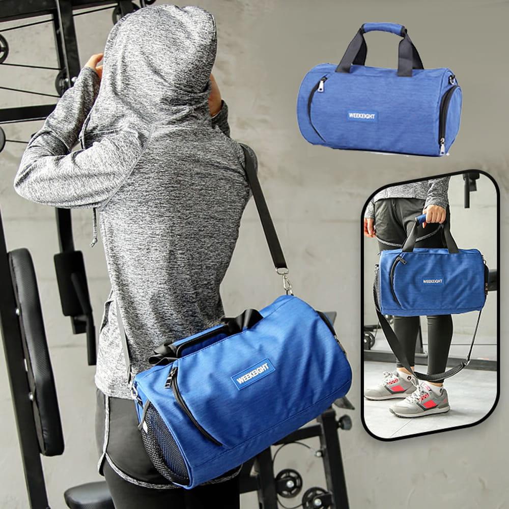 【E.City】大容量圓筒乾溼分離運動健身包 4