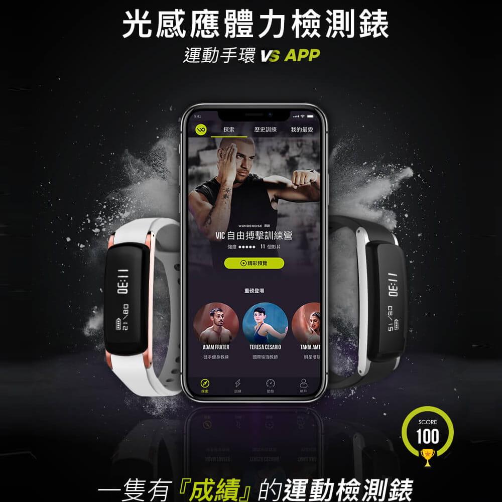 【Wonder Core】Wondercise光感應體力檢測錶+空中健身學院會員卡一年 1