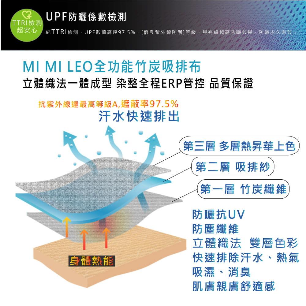 【MI MI LEO】台灣製神奇速乾全功能竹炭髮絲紋機能衣(12色) 9