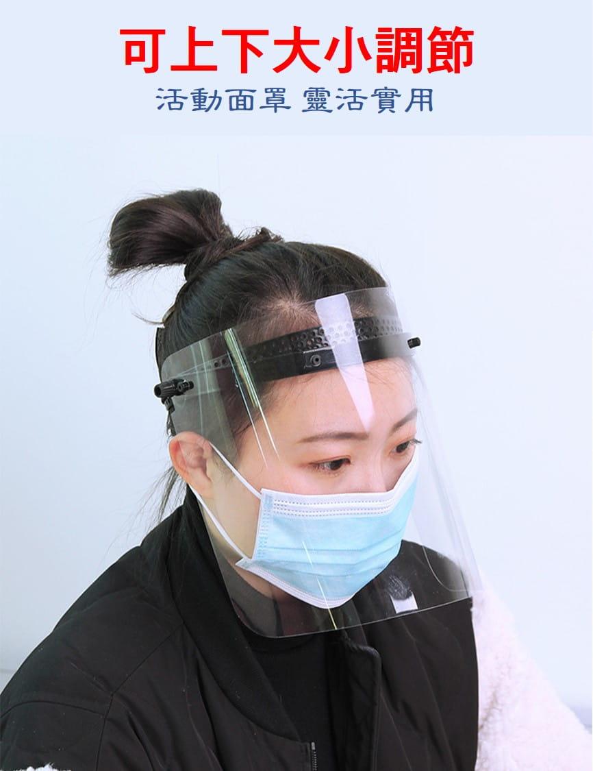 全臉高透明防疫面罩(可調控升級版) 1