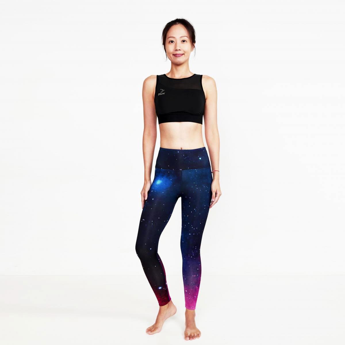【ELASTI】典莎瑜珈褲(碘紗抗菌除臭機能)-星光銀河 1