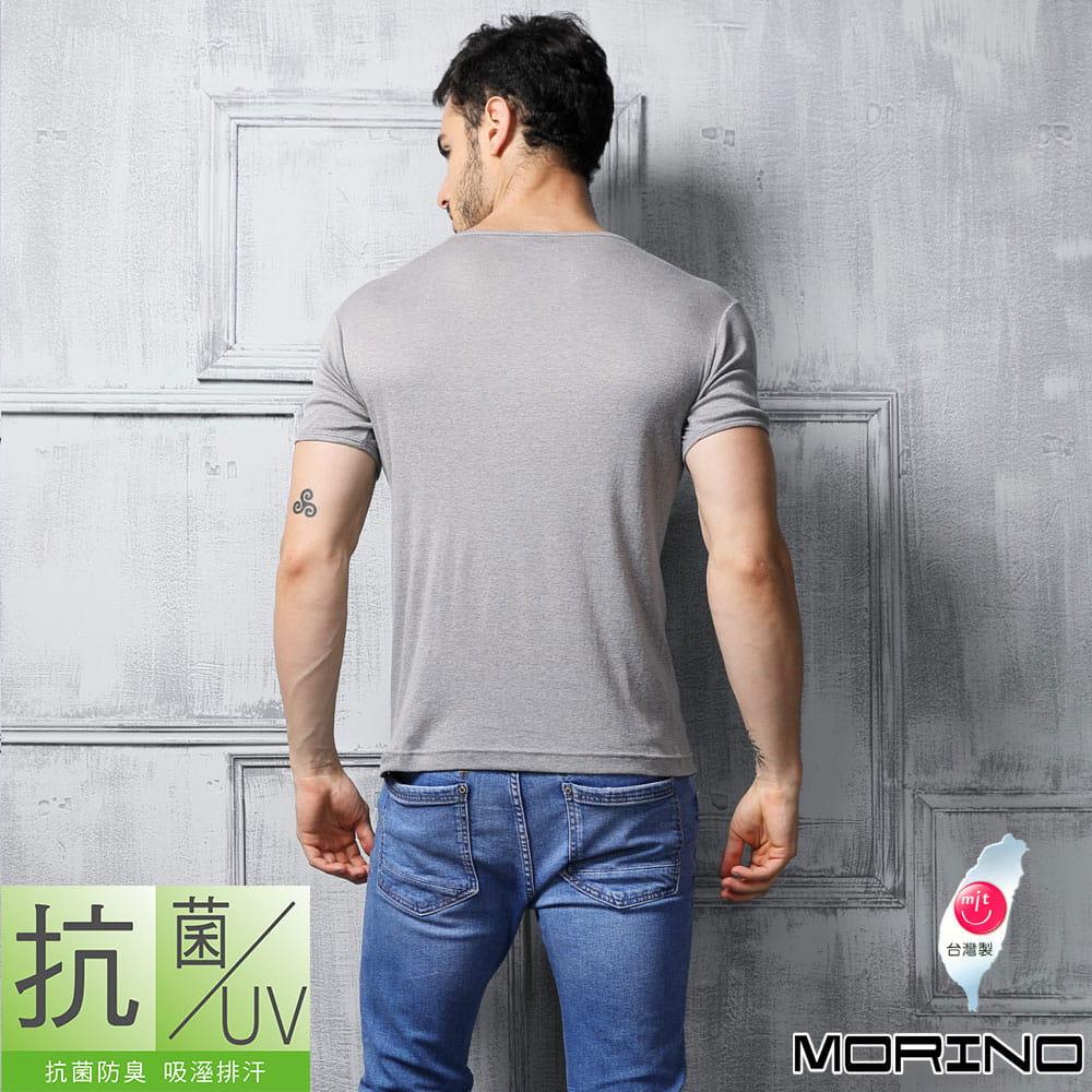【MORINO摩力諾】抗菌防臭速乾短袖V領衫 4