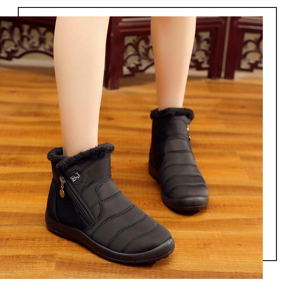 防水保暖防滑厚毛絨雪靴(36-42碼/3色可選) 8